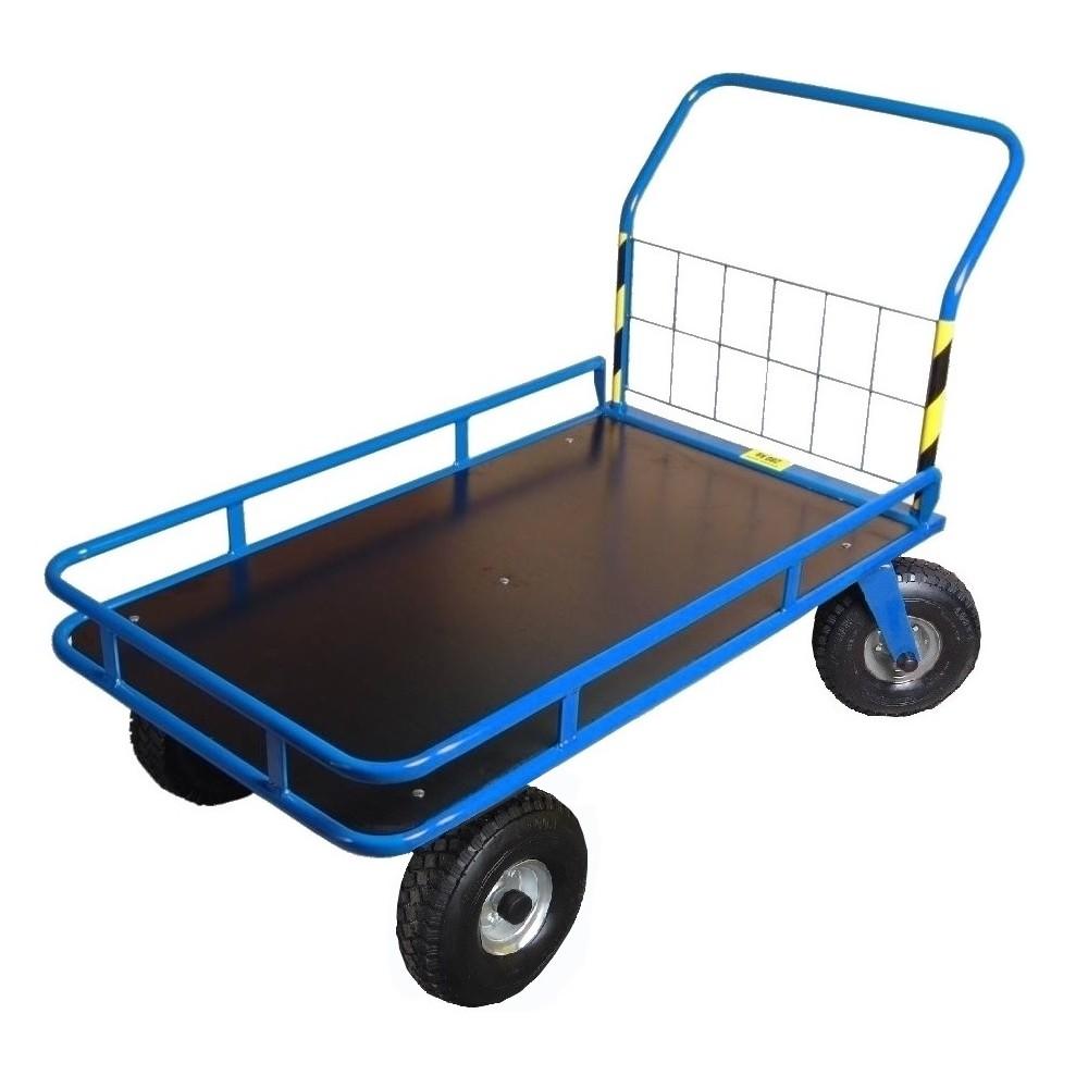 Wózek magazynowy, platformowy Stach IV z ramką