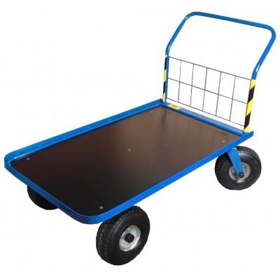 Wózek gospodarczy, platformowy Stach IV z obrzeżem