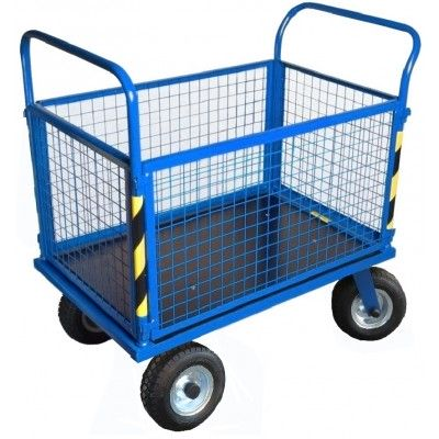 Wózek gospodarczy, platformowy Stach V zabudowany siatką